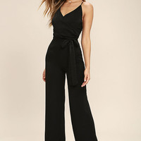 Got You On My Mind Black Jumpsuit