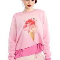 Floral Cone Monte Crop Sweater