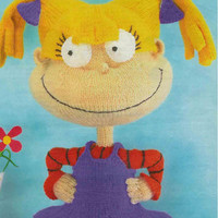Rugrats Angelica Knitting Pattern PDF instant download, Rugrats knitting, Angelica from Rugrats toy doll knitting pattern