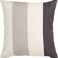Simple Stripe Throw Pillow Neutral, Black