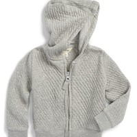 Infant Boy's Burt's Bees Baby Organic Cotton Zip Front Hoodie,