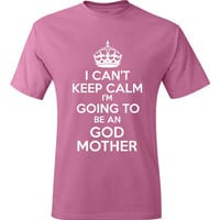 Funny New God Mother Shirt Gift Ideas Tee For God Mother New Baby Announcement God Mother Gift Tee womens Mens Gift Tee