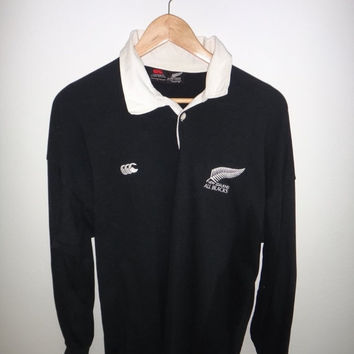 New Year Sale Vintage Canterbury Of New Zealand Rugby Union All Black Original Shirt