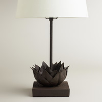 Metal Lotus Accent Lamp Base - World Market