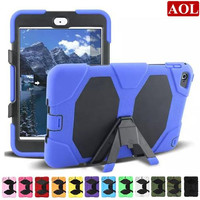 For iPad Mini 1/2/3/4 Shock Proof Military Heavy Duty Hard Case Cover 12 Colors 1:1 shockproof defender case
