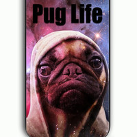 iPhone 5C Case - Rubber (TPU) Cover with Funny Pug Life On Galaxy Rubber Case Design