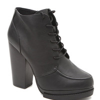 Qupid Ponder Lace Up Booties at PacSun.com
