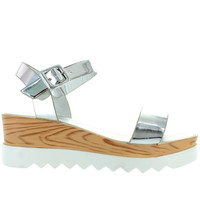 Wanted Baldwin - Silver Platform/Wedge Sandal