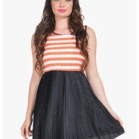 Orange Get Out Of Town Day Dress | $10.00 | Cheap Trendy Casual Dresses Chic Discount Fashion for Wo