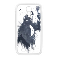 Wolf Song 3 White Silicon Rubber Case for Galaxy S4 by Balazs Solti