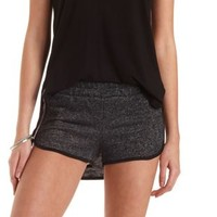 Piped French Terry Dolphin Shorts by Charlotte Russe