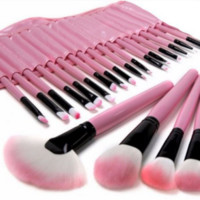 Pink Tip Professional Soft  Makeup Brush Set
