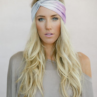 Printed Jersey Twist Headband, Ombre Head Wrap, Fabric Hair Wrap, Fashion Hair Accessories, Printed Jersey Turband in Tie-Dye (HB-3845)