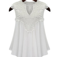 New Sexy 2016 Camisole Summer Fashion Clubwear Women 5 Colors Embroidered Applique V Neck Blouse Top Plus Size