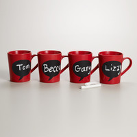 Chalk Talk Mug, Set of 4 - World Market