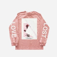 Lost Love Long Sleeve Tee in Light Pink