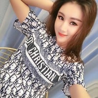 Womens Dior Tshirt Ice silk cotton cheap fashion luxury brand Casual high quality v_xuzhenyu99
