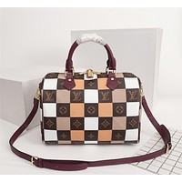 LV Louis Vuitton WOMEN'S MONOGRAM CANVAS Patchwork SPEEDY 30 HANDBAG SHOULDER BAG