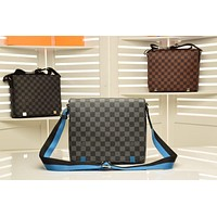 LV Louis Vuitton DAMIER DISTRICT CANVAS CROSS BODY BAG