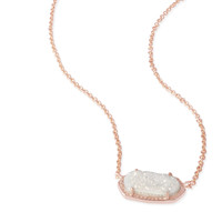 Kendra Scott - Elisa Necklace Rose Gold with Iridescent Drusy