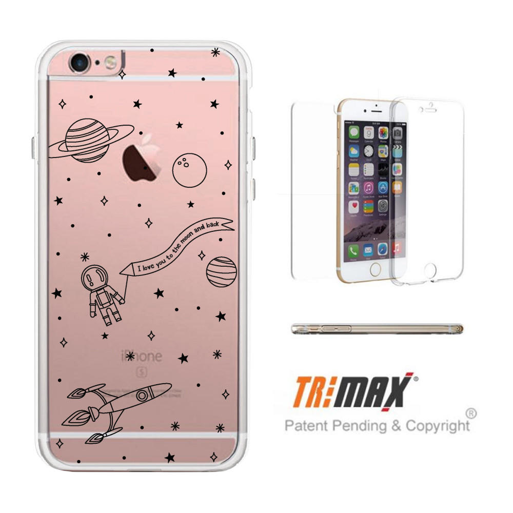 Image of 365Printing Tri Max® Space Pattern Clear iPhone Cases Transparent TPU Phonecases iPhone 6 6S Plus