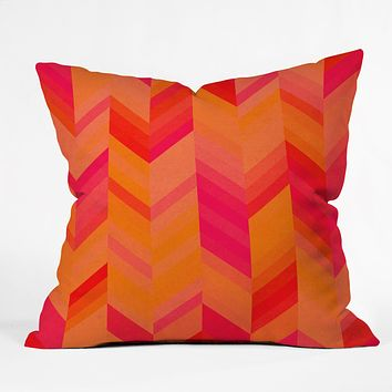 Rebecca Allen Orange Quest Throw Pillow