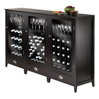 Winsome 3-piece Bordeaux Wine Cabinet Set (Brown)