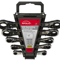 5 Piece SAE Ratcheting Wrench Set