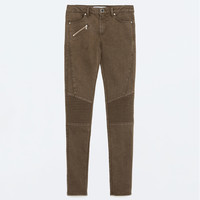 MID - RISE BIKER TROUSERS-View All-TROUSERS-WOMAN-SALE | ZARA United States