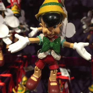 disney parks christmas holiday marionette pinoccho ornament new with tags