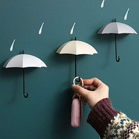 3pcs Umbrella Shaped Random Wall Hook