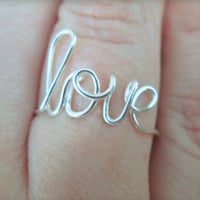 Sterling silver handcrafted love ring.Love.Friends.Infinity.Weddings.Bridesmaids.Bride.