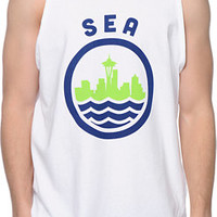 Casual Industrees AES White Tank Top