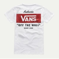 VANS Fashion Print Quick-drying Casual Short Sleeve Shirt Top Tee Blouse
