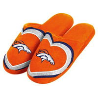 Denver Broncos Official NFL Womens Glitter Slide Slippers