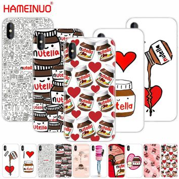 HAMEINUO chocolate Food Tumblr Nutella cell phone Cover case for iphone X 8 7 6 4 4s 5 5s SE 5c 6s plus