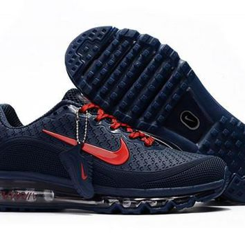 Most Popular Nike Air Max 2017. 5 KPU Navy Blue & Red Sneakers Men's Running Shoes