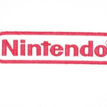 """NINTENDO Logo Wii Retro Gamer Iron On Embroidered Patch Patch 4.5""""/11.8cm x 1.1""""/3cm By MNC Shop"""