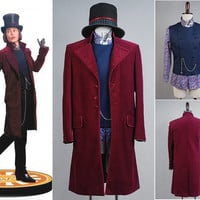 Charlie and the Chocolate Factory Johnny Depp Willy Wonka  Cosplay Costumes For Men