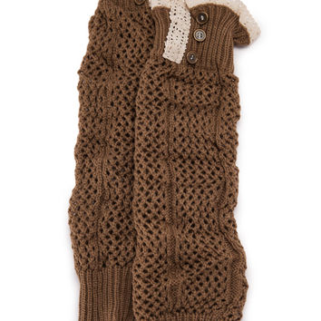 The Time Is Right Mocha Leg Warmers
