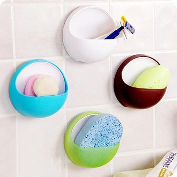 New Qualified Plastic Storage Box Suction Cup Soap