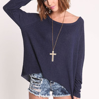 OVERSIZED TERRYCLOTH SWEATER