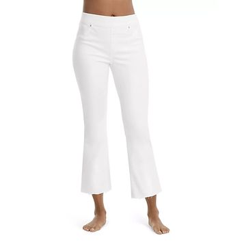 Cropped Flare Jean White