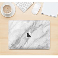 """The White Marble Surface Skin Kit for the 12"""" Apple MacBook"""