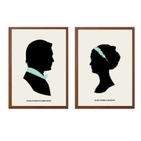 GOSSIP GIRL | Charles and Blair Poster : Modern Illustration Gossip Girl TV Series Retro Art Wall Decor