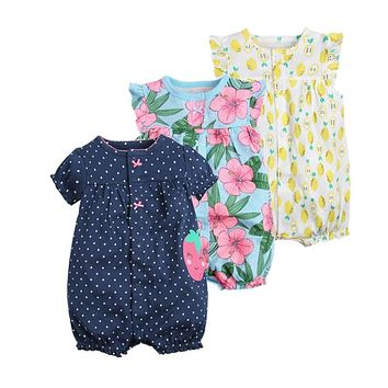 baby girl clothes one-pieces jumpsuits baby clothing ,cotton short romper infant girl clothes