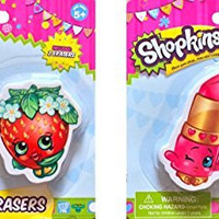 Shopkins School Supplies Shopkins Erasers Once You Shop You Can't Stop Super Cute Children's Erasers (Strawberry)