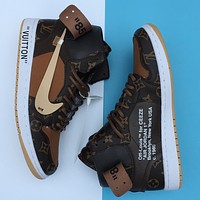 Off White X Lv X Air Jordan 1 Aq0818-202
