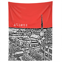 Bird Ave Athens Red Tapestry