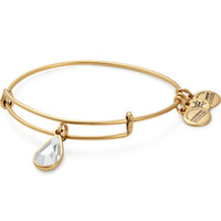 April Birth Month Charm Bangle With Swarovski® Crystal